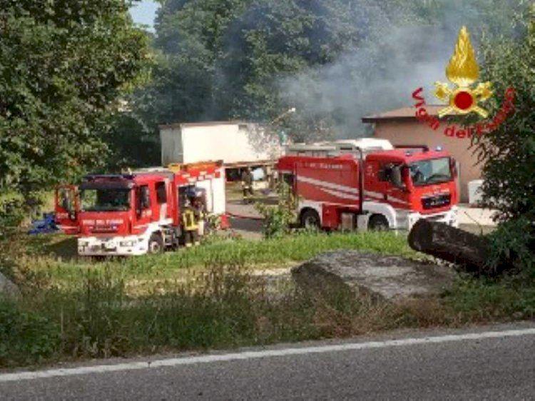 Cantello (Va), via Monte Generoso incendio presso un ristorante
