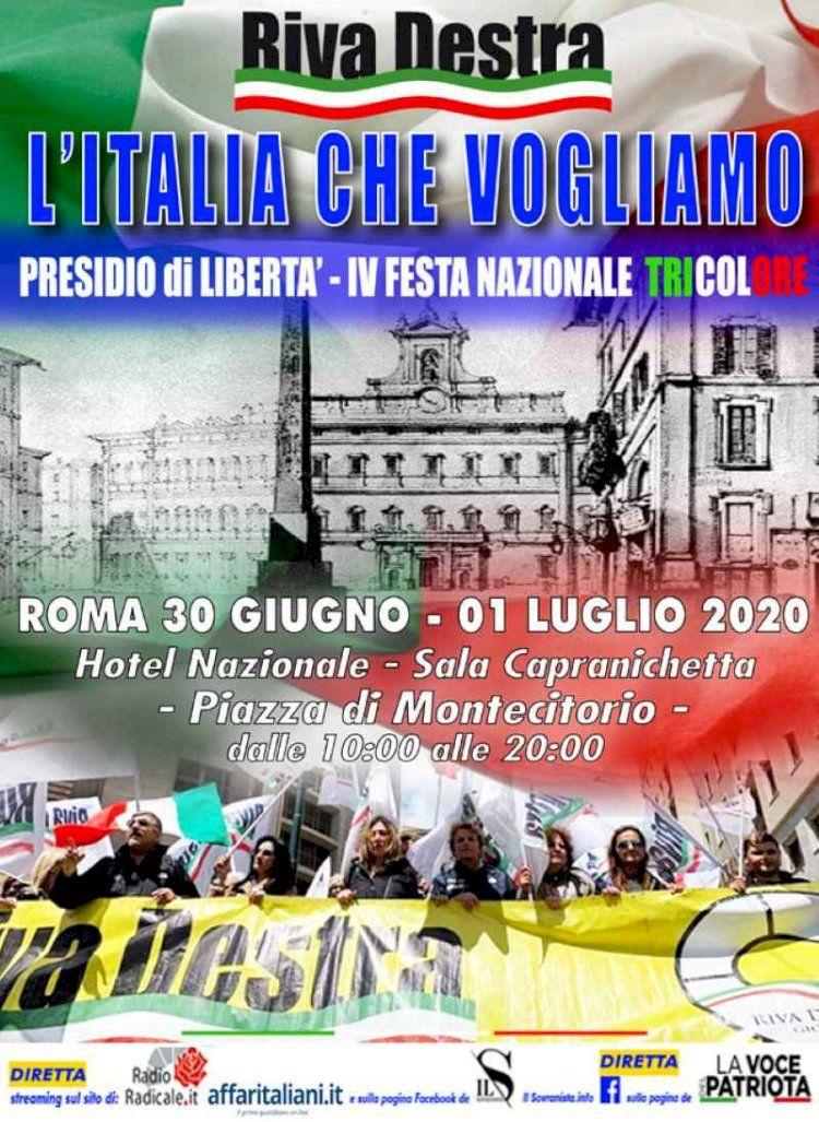 Roma,In piazza di Montecitorio,20 ore di dibattiti in diretta streaming e facebook. Conclude Lollobrigida (FDI).