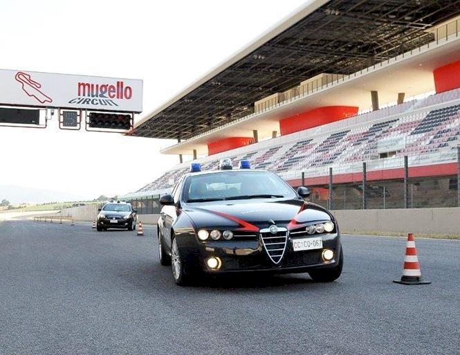 Mugello: corso di guida sicura dei Carabinieri