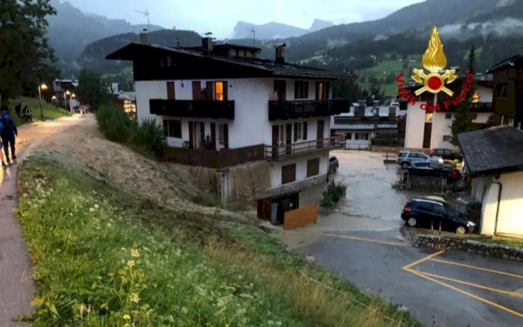 Cortina D'Ampezzo: devastata da una bomba d'acqua
