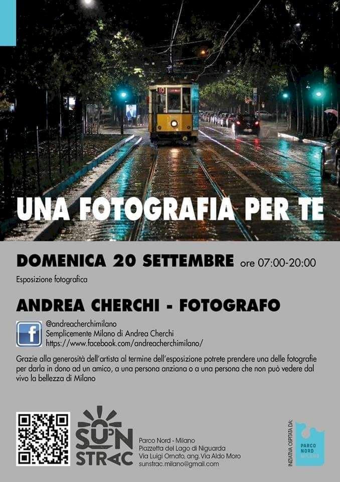 Andrea Cherchi, fotografo, al al mitico baretto SUN STRAC di Parco Nord