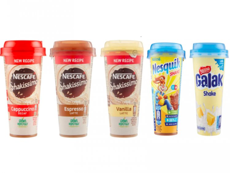 Richiamati shake diversi gusti Nescafé, Galak e Nesquik.