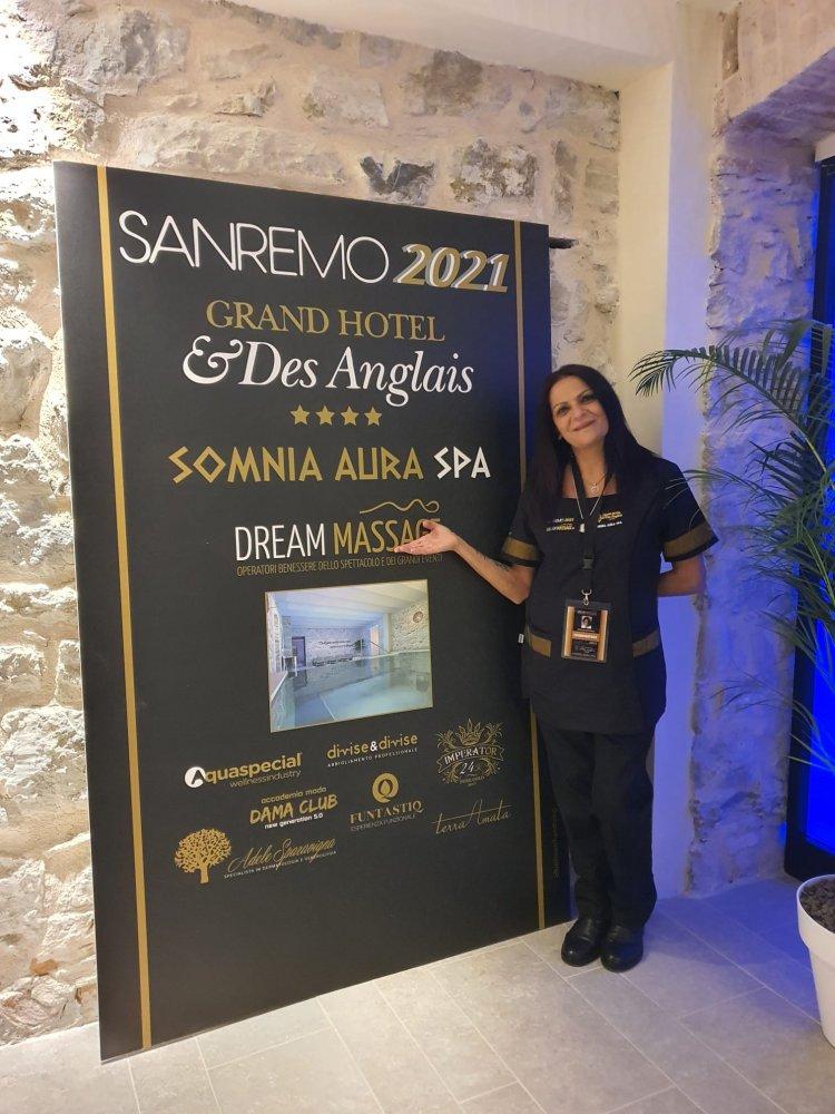 Una romana incanta Sanremo Monica Capitanio