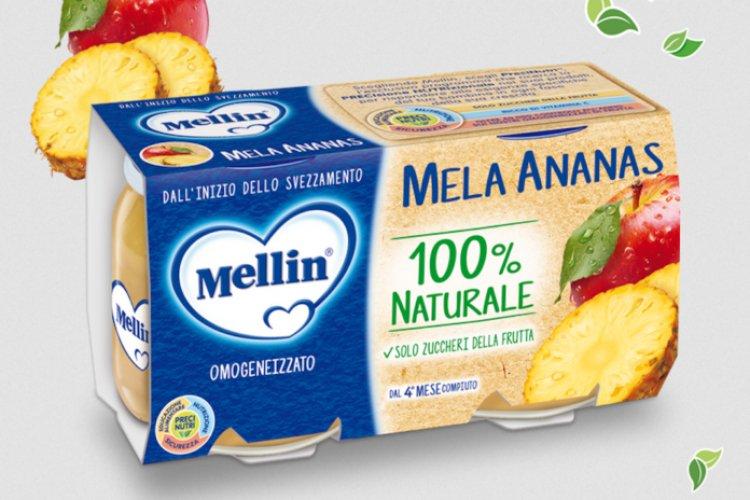 Rischio frammento di vetro nell'omogeneizzato Mellin al gusto mela ananas.