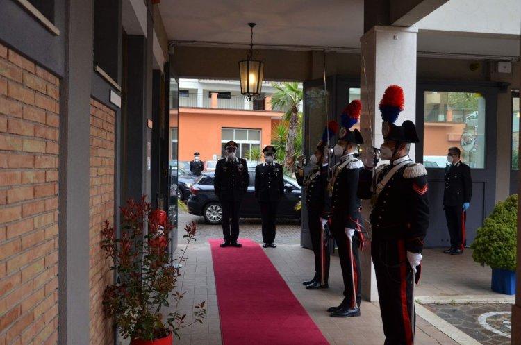 Il Generale Teo Luzi visita il Comando Legione Carabinieri Marche