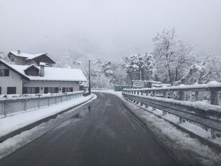 Valli del Verbano Cusio Ossola: da stanotte nevica oltre i 600 metri