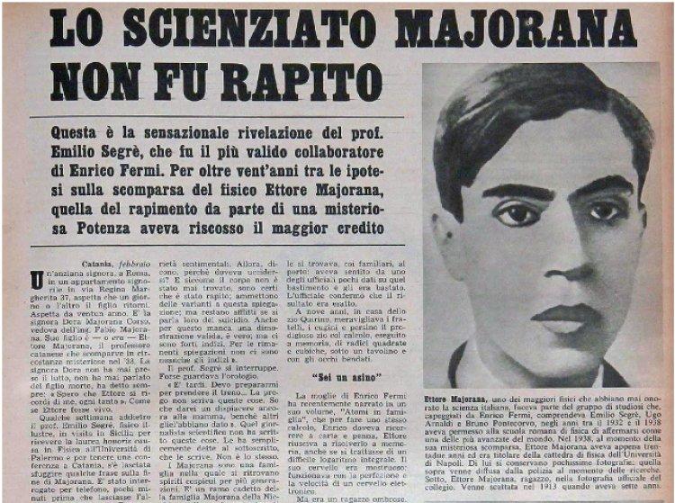 Il Segreto della scomparsa di Ettore Majorana.