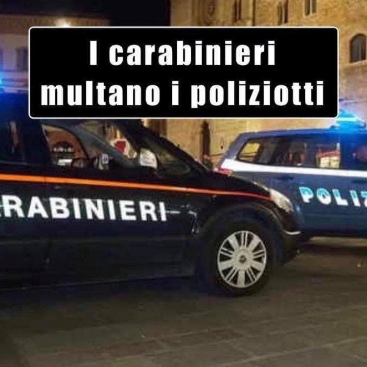 Assembramento al BAR, i Carabinieri multano i Poliziotti