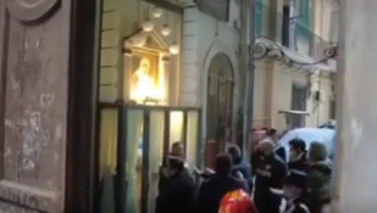 Napoli, tolte le ceneri del boss Emanuele Sibillo dall'altare