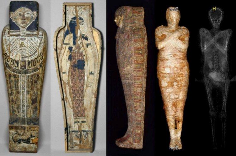Scienziati polacchi scoprono la prima mummia incinta.