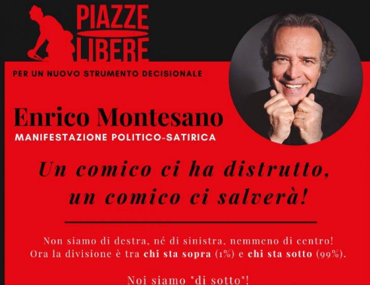 Roma 8 Maggio Enrico Montesano in Piazza Gaetano Mosca