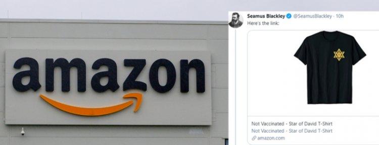 """""""Non vaccinato"""", una t-shirt con la stella gialla fa scandalo su Amazon"""