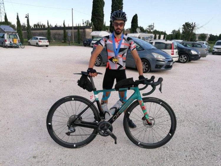 Ultracycling - Mario Favini sul podio della Romagna Ultra Race