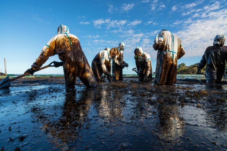 Riaprono le spiagge in Corsica dopo l'inquinamento da petrolio. In Corsica,
