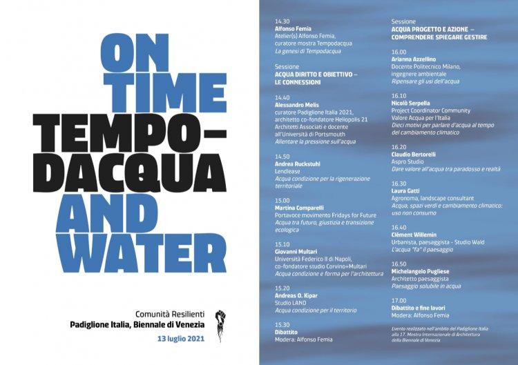Venezia: Atelier(s) Alfonso Femia con la ricerca Tempodacqua